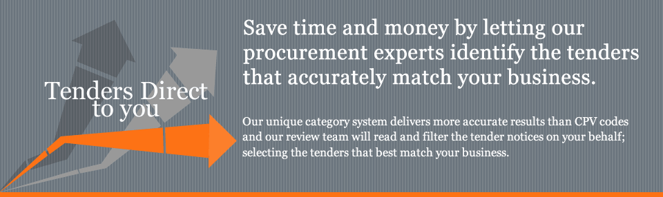 Save time and money by letting our procurement experts identify the tenders that accurately match your business. 