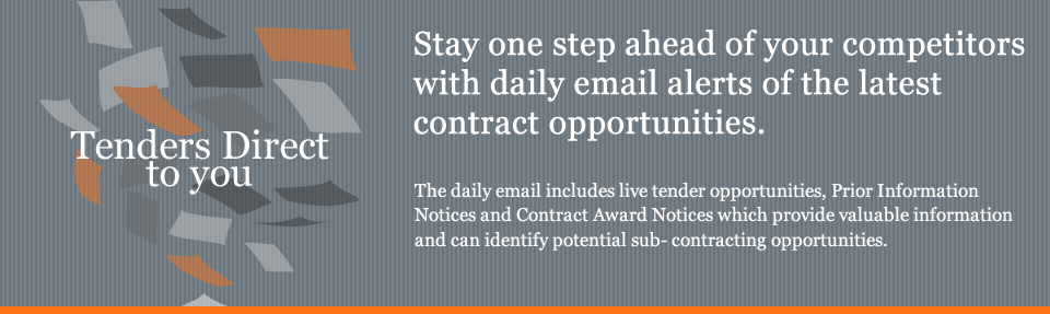 Stay one step ahead of your competitors with daily email alerts of the latest contract opportunities. The daily 