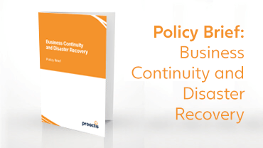 Policy Brief - Business Continuity and Disaster Recovery